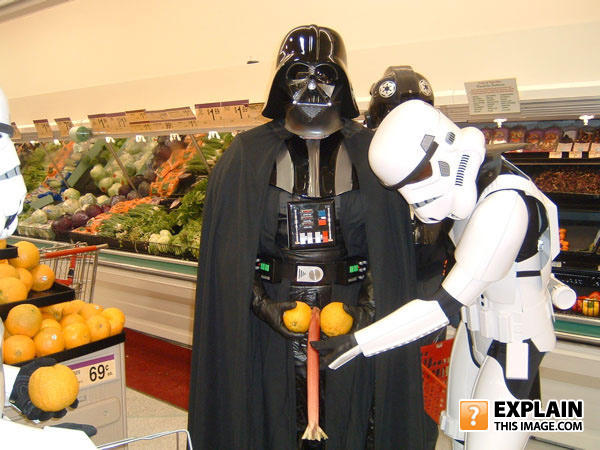 - Vader: Oh yes, more squeeze more pay.