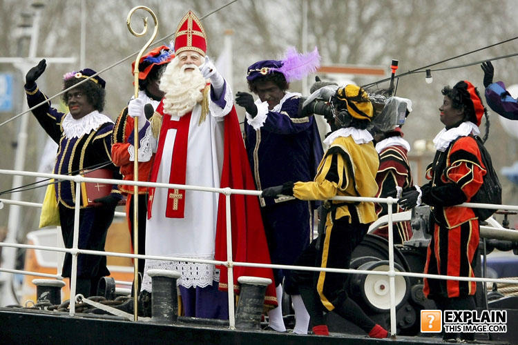 - It's a dutch holiday called Sinterklaas where Sain