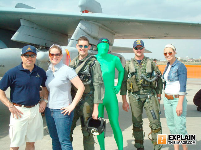 - Gumby tours the air force base