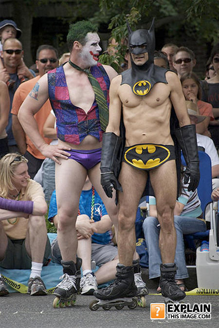 - Batman - Gay edition.