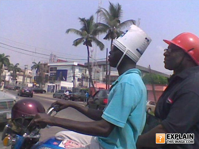 - Helmets make me look stupid.
